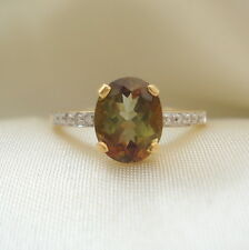 1.64ct Andalusite & Diamond Gold Ring