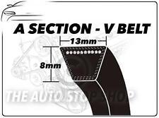 Una sección V Belt-A30-longitud 767 mm Vee Auxiliar Disco Ventilador cinturón 13mm X 8 Mm