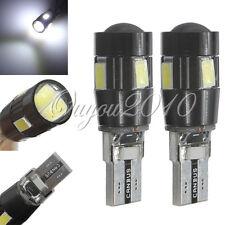 2x Bombillas T10 W5W 6 LED SMD 5630 COCHE Blanco CANBUS Posicion interior 6500K