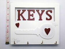 4 Shabby Chic Key Hook - Holder - Rack - Hanger Birthday Gift Ideas For Her