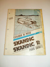 SKIDOO 1985 SKANDIC SKANDIC R  PARTS CATALOG MANUAL