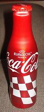 CROATIA  footbal  FRANCE 2016 EURO Coca cola  ALUMINIUM BOTTLE - EMPTY WHIT CAP