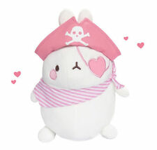 "Molang 9"" Pirate PINK Plush Stuffed Doll Cushion Cute Kawaii Rabbit Decor Toy"