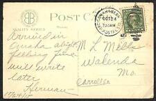OMAHA NEBRASKA NEW W.O.W. BLD U. DEPOT POSTAL STATION TRAIN CANCEL POSTCARD 1919