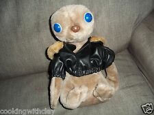 VINTAGE ET EXTRA TERRESTIAL SPACE ALIEN LEATHER JACKET PLUSH DOLL FIGURE TOY