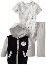 AUTH.BNWT RENE ROFE Baby-Boys Newborn Dream Hooded Cardigan Pant Set (6-9 MOS.)