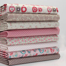 FQ x 8 BUNDLE - FLO'S GARDEN APPLES & BIRDS by MAKOWER  100% COTTON FABRIC