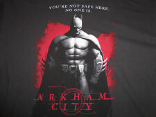 "Batman Arkham City ""Not Safe Here"" Gray Graphic Print T Shirt - XXL"