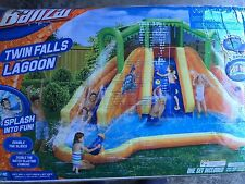NEW Banzai Twin Falls Lagoon Water Park Slide Pool