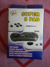 YOBO GAMEWARE SUPER 8 PAD NINTENDO ENTERTAINMENT SYSTEM NES CONTROLLER BLACK NEW