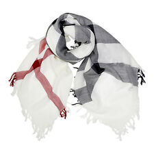 Burberry Large Check Merino Wool Scarf