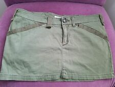 MISS SIXTY DEMIN  CARGO MINI SKORT/skirt with built-in shorts size  xl