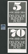 BUND FOTO-ESSAY`s 2 UNVERAUSGABTE DAUERSERIE ZIFFERN 1966 PHOTO-ESSAY PROOF e302