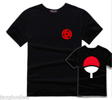 Naruto Shippuden Uchiha Sasuke Anime Cartoon TV Men Women 100% Cotton T-Shirt