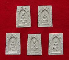 Set of 5 Thai Buddha Amulets (clay) from a Buddhist Temple in Bangkok      100-2