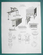 CANDLE Making Candlesticks - 1820 ABRAHAM REES Print