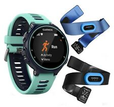 NUOVO GARMIN FORERUNNER 735xt MULTISPORT TRIATHLON RUNNING WATCH TRI bundle blu