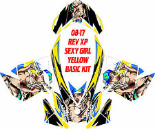 SKI DOO SNOWMOBILE WRAP REV,XP, XR,XS,XM MXZ  99-16 SEXY GIRL DECAL STICKER