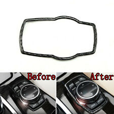 Soft Carbon Fiber Car Multimedia Rotating Button Decoration Ring Cover for x3 x5
