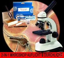 2-IN-1 MICROSCOPIO MICROSCOPE BIOLOGICO LABORATORIO MK2