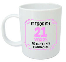 It Took 21 Years Fabulous Mug - 21st birthday gifts for women girls, gift ideas