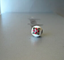 Authentic Pandora Charm  Christmas Pudding  with Mix  Enamel 1 piece
