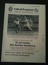 Programmheft 1958 SC Lok Leipzig R.Babelsberg DDR Oberliga Chemie Leipzig