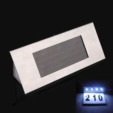Solar Powered 4 LEDs House Address Number Doorplate Super Bright Light Lamp