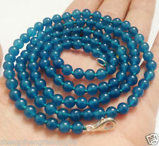 """LONG 36"""" 8mm Apatite Gemstones Round Beads Fashion Necklace AAA"""