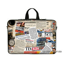 "15.6"" Laptop Notebook Computer Sleeve Case Bag Magazine with Handle"
