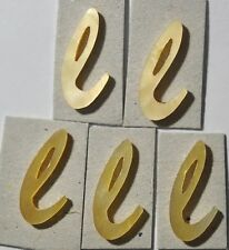 LE-LGL# 5 Lowercase L in Gold Mother of Pearl 7.9mm x 14.7mm x 1.5mm thickness