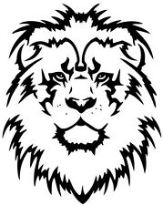 (Nr189) TRIBAL TATTOO TIGER LION HEAD DECAL VINYL STICKER WALL HOOD TRUCK CAR