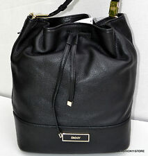 DKNY Crosby Ego Leather Drawstring Shoulder Bag Sac Purse Bolsa Handbag MSRP$295