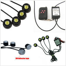 4x LED White Car Emergency Warning Strobe Grille Light & Wireless Remote Control