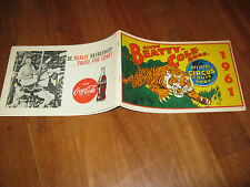 ROUTE BOOK 1961 CLYDE BEATTY COLE BROS. CIRCO CIRCUS,TIGRE,COCA COLA,R.BUTLER