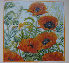 [TG13] X Stitch Chart-Red Poppies by Thea Gouverneur