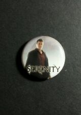 "SERENITY FIREFLY NATHAN FILLION MAL PHOTO MOVIE TV SM 1"" PINBACK BUTTON PIN"