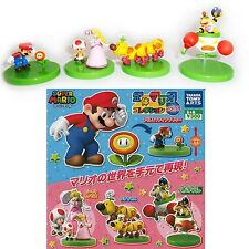 SET 4 Figure SUPER MARIO Tomy TORCIBRUCO WIGGLER PEACH TOAD BOWSER Figures