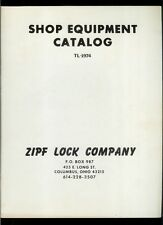 Super Rare Vintage Original 1974 ZIPF Lock Co Shop Equipment Catalog Key Cutters
