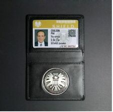 Agents of shield S.H.I.E.L.D. Metal Badge & Leather ID Holder Coulson Wallet