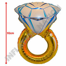 Diamond Ring Foil Helium Balloon Engagement Wedding Party Decoration Supplies