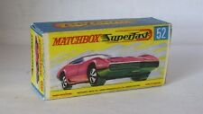Repro Box Matchbox Superfast Nr.52 Dodge Charger MK3 pink