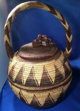 VTG Original Papua New Guinea Buka Basket, Hand Woven | Brown, Native, 1980s?
