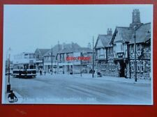 POSTCARD SHEFFIELD TRAMS - BARNSLEY RD SHEFFIELD LANE TOP TERMINUS