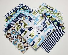 "Midnight Zoologie Shannon Fabrics Minky Cuddle Cakes 10"" Precut Quilt Squares"