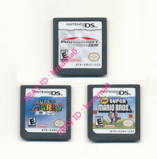3pcs Nintendo Mario 64+New Super Mario Bros+Mario Kart Game Card for 3DS DSI