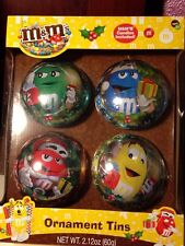 2014 M&M'S CHARACTERS LIMITED EDITION CHRISTMAS ORNAMENT TINS - SET OF 4