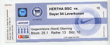 Orig.Ticket    1.Bundesliga  05/06    HERTHA BSC BERLIN - BAYER 04 LEVERKUSEN !!