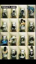 "Funny toilet booth pictures poster  Maxi size 24""x36"""