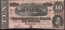 1864 Estados confederados America billete de $10 * Richmond * GVF * P-68 *